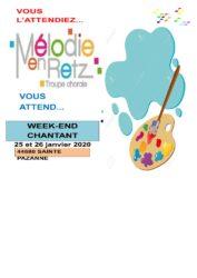 Week-end chantant les 25 et 26 janvier 2020 à Sainte-Pazanne